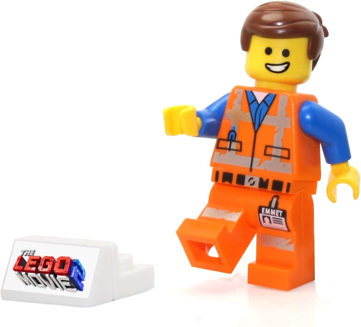LEGO Movie 2 Emmet with Smile Worn Uniform Minifigure from 70847