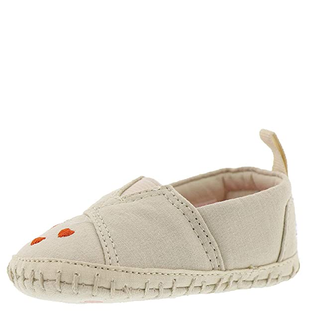 Amazon.com: TOMS Kids Baby Girls Crib Alpargata (Infant/Toddler) Birch Canvas Sweetheart 2 M US Infant: Shoes