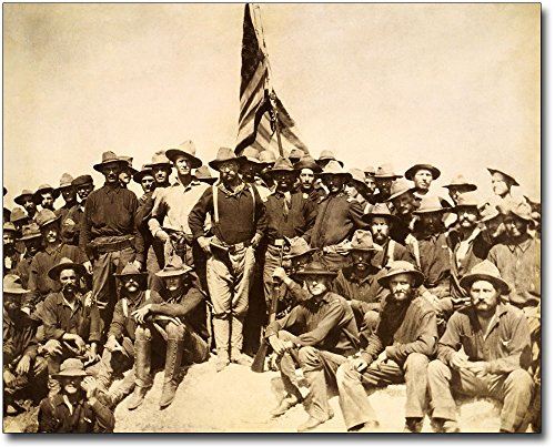 (Teddy Roosevelt & Rough Riders 1898 8x10 Silver Halide Photo Print)