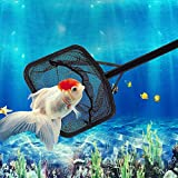 Agfabric ABS Stable Fish Nets - 2Pack - Square Shape Anti-Corrosion Trawl Nets with Soft & Flexible Mesh, Medium, Black