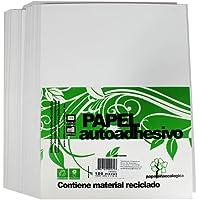 Papel Adhesivo. Etiquetas Tamaño Carta blanco, 50 Hojas, para Impresoras Laser, Inkjet, Fotocopiadoras o Trabajos…