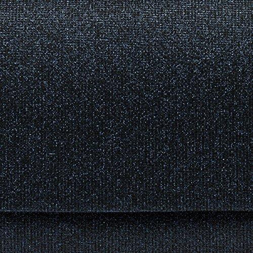 Clutch chaînette pour soirée brillante Bleu Foncé TA400 Pochette CASPAR avec élégante longue paillettes de avec femme FxWHUwq