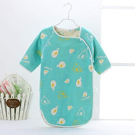 Algodón 0-36 meses saco de dormir para bebé gasa edredón para bebé chaleco tipo saco de dormir anti-kick-green_73cm sacos de dormir para niños dormir: Amazon.es: Bebé