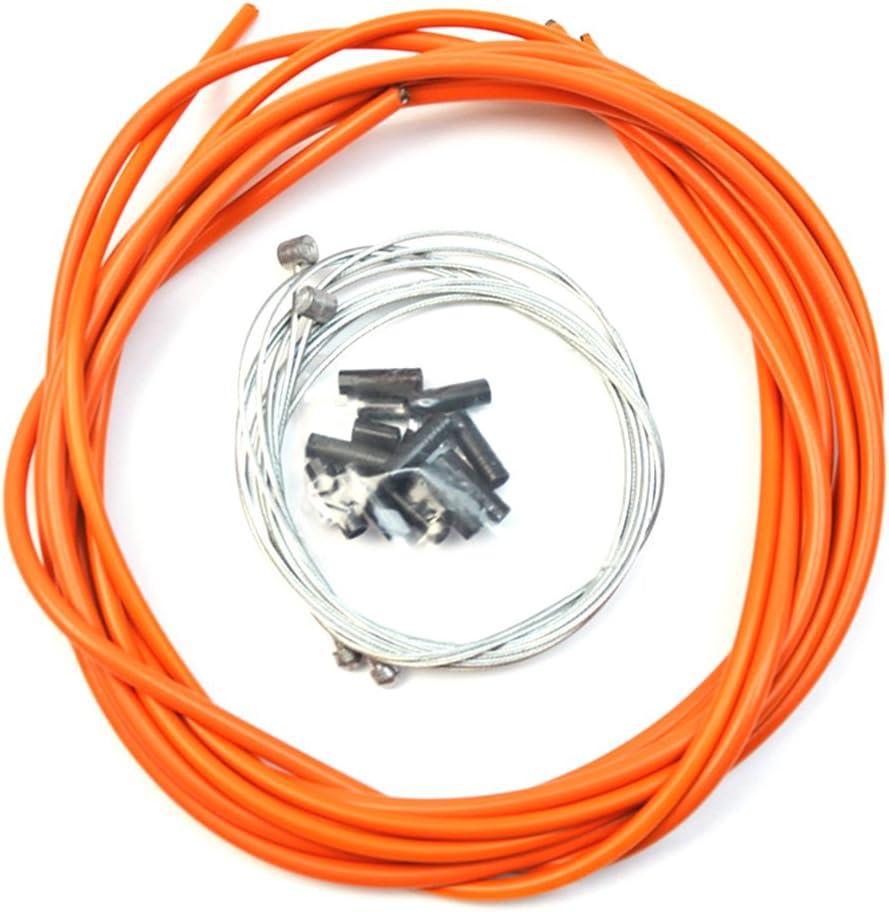 VORCOOL Cable de freno de bicicleta Bicicletas universales Accesorios de repuesto de cable de cambio de carretera (naranja)