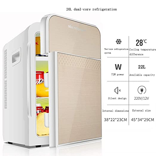 Xyanzi Frigoríficos Mini Mini Refrigerador, 20L Mini Refrigerador ...