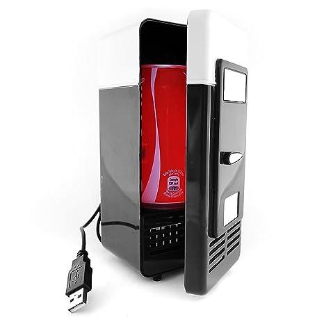 Mini NEVERA USB Refrigerador Vintage, Pequeño Frigorífico para ...