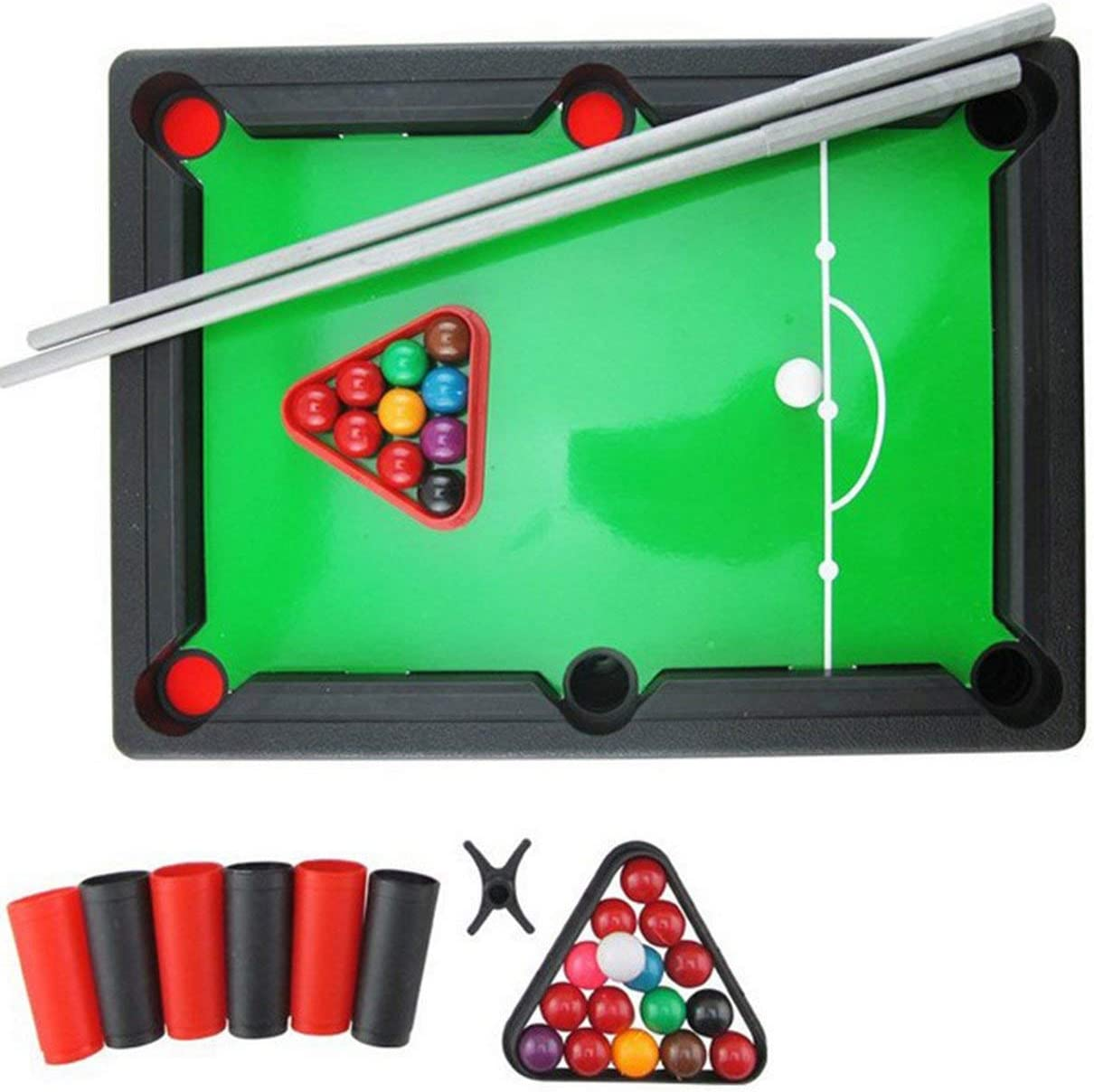 ShenyKan Mini American Billiard Pool Room Juegos de mesa Juguetes deportivos Juguetes educativos para niños Entrenamiento de ojos y manos 1 juego: Amazon.es: Bebé