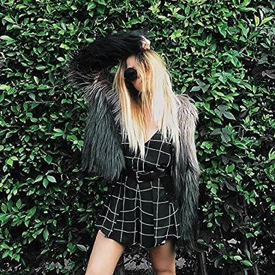 Perman Womens Winter Warm Faux Fur Short Coat Jacket Parka Outerwear Tops