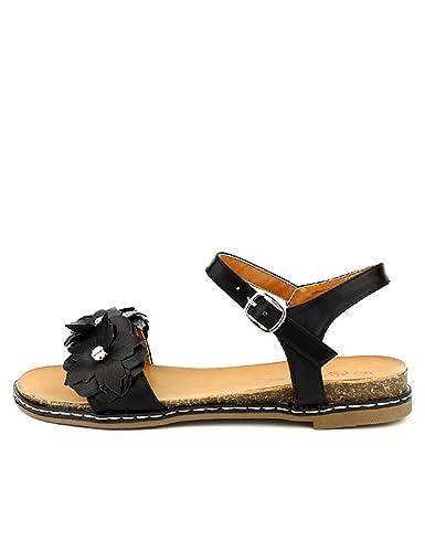 Femme Cendriyon Chaussures Louise Sandale Noire qZZzw8AP