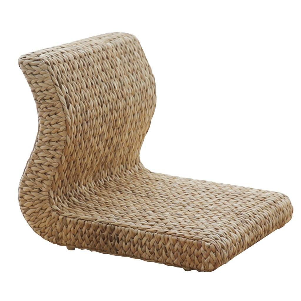 Cushion for Tea House Legless Stool for Living Room Chair for Bedroom Armchair Lazy Chair Wicker Chair Armchair Durable Can Bear 300KG Furniture Accessories (Color : Wood Color, Size : 365038cm)