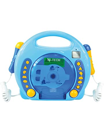 von X4-TECH 701480 – Karaoke Reproductor de CD MP3 2 Mikros Niño, Color