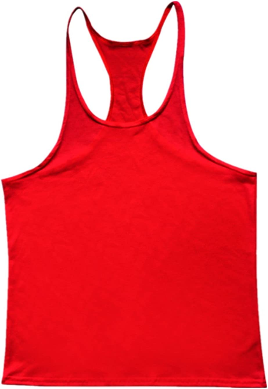 Q/&Y Mens Y Back Muscle Fitness Gym Stringer Tank Tops Workout Sleeveless Shirts