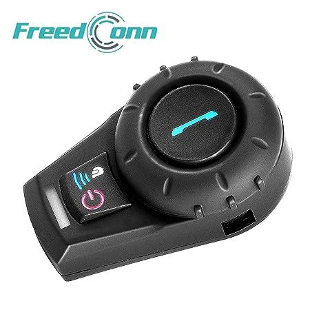 FreedConn FDCVB Intercomunicador de Casco de Motocicleta Bluetooth Headset Soporta 2-3 Jinetes de conexión