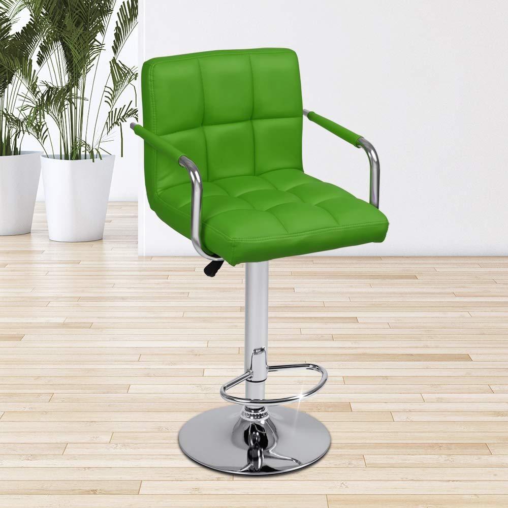 Colore e Set a Scelta Regolabile in Altezza e Il Sedile Girevole Poggiapiedi Verde, 1 Pezzo Mobili da Bar Mobili da Pranzo Sgabelli da Bar con Braccioli