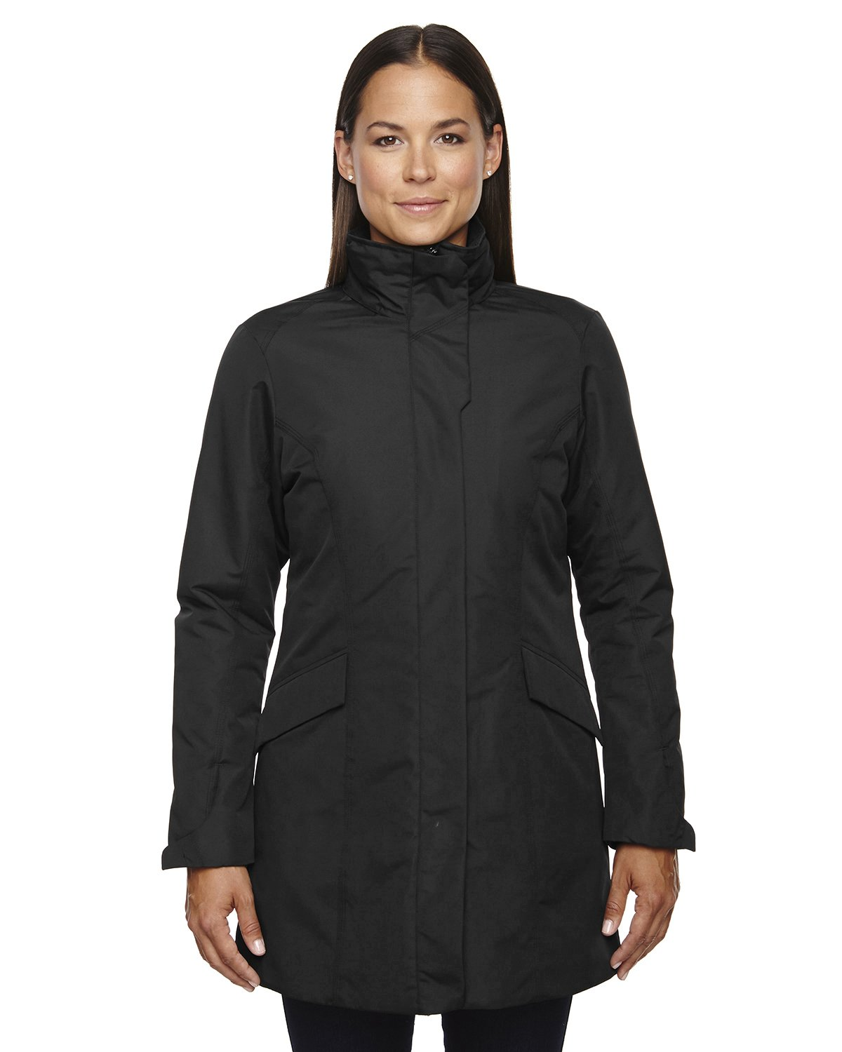 Ash City Apparel North End Promote Ladies Insulated Car Jacket (X-Small, Black)