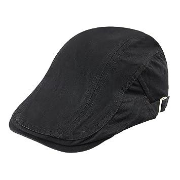 33c09f21 British Style Men's Cotton Flat Newsboy Hat Artist Hat Solid Color Driving  Hat Cap Women Painter