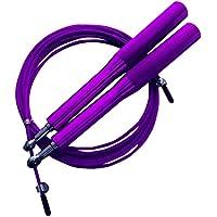 Corda Pular Aço Crossfit 3m Rolamento Speed Profissional Roxo
