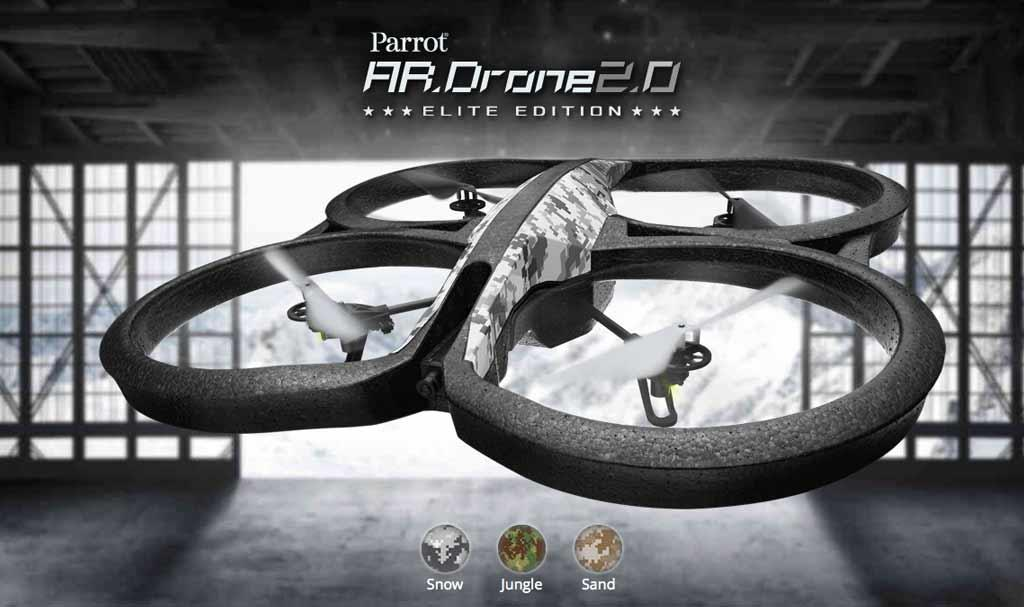 parrot ar drone 2 0 elite edition quadcopter jungle electronics. Black Bedroom Furniture Sets. Home Design Ideas