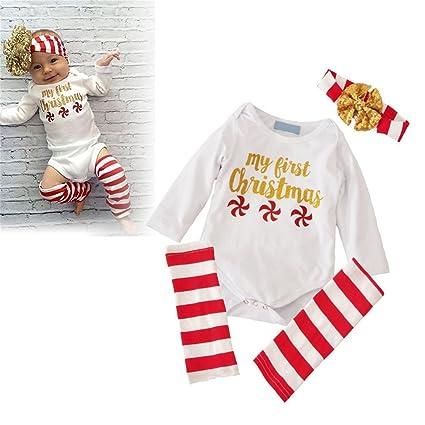 Gugutogo 3 piezas de mameluco niño + polainas + Heaband bebé ropa de ...