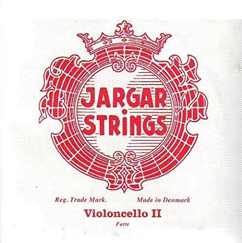 Jargar Cello D Chrome Steel Wrapped Red (Forte), J941R (Jargar Cello Strings Forte)