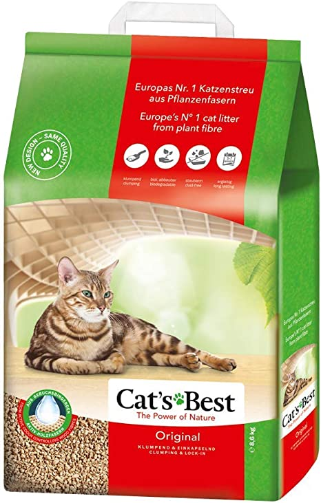 Cats Best Lecho para gatos Öko Plus, 20L (8.6kg): Amazon.es ...