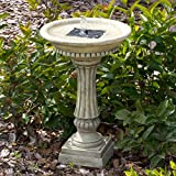 Smart Solar 27686M01 Ashbourne Granite Style Solar Birdbath Water Fountain with Integrated Underwater Integral Solar Panel and Pump System
