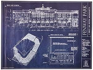 Fenway Park Blueprint Print