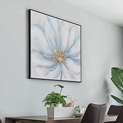 20X20Inch LeDiYouGou Pittura Ad Olio Dipinto A Mano su Tela,Pianta di Fiori Semplice E Bella,Frameless Modern Pop Canvas Wall Art Stampa Immagini Home Decor,50X50Cm