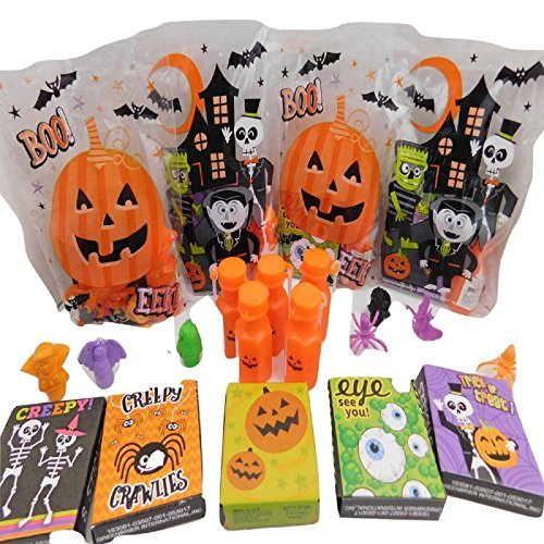Happy Halloween Pre-Filled Favor Boo Bags! Perfect For Classroom Gift Exchange, Halloween Party Favors & Trick Or Treat Goodies! Bundle of 30: Teal Pumpkin -