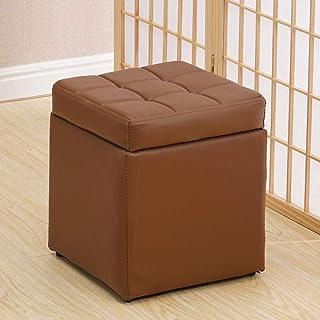 Poggiapiedi Casa Pouffes Divanetto Sgabelli da 150 kg Sgabello Xin® (Colore : Brown, Dimensioni : 70 * 30 * 35cm)