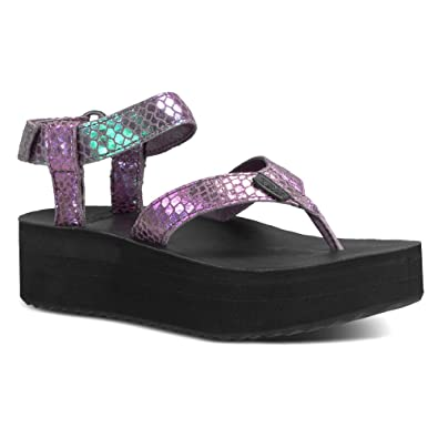 Teva ... Damens's Flatform Iridescent Sandale,Plum,US 10 M  Amazon.in ... Teva 470932