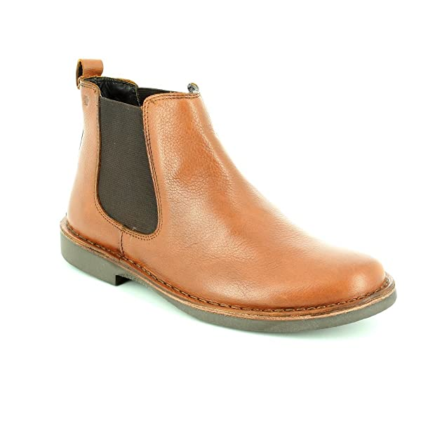 70cd78c7e65 Padders JERRY Mens Leather Wide Dealer Boots Tan UK 6  Amazon.co.uk ...