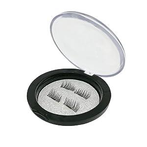 Lmanes Pestañas Postizas, 4PCS NUEVO lazo ultrafino del ojo magnético de 0.2mm imán falso reutilizable del visión de 3D