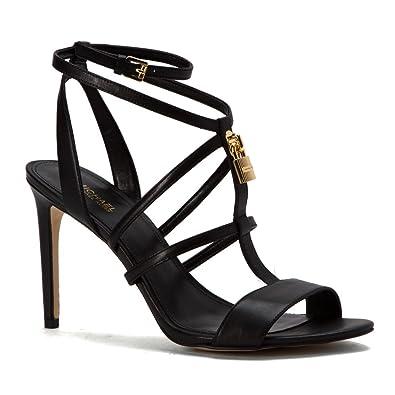 39c6e9ad7829 MICHAEL Michael Kors Women s Antoinette Sandal Black Smooth Calf ...
