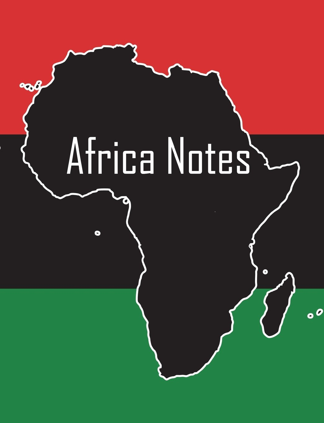 Africa Notes: African continent & Pan-African flag cover, 100 pages, 7.44x9.69 in., matte pdf epub