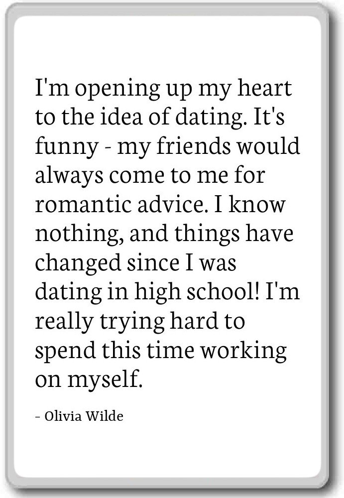 Amazon.com: I\'m opening up my heart to the idea of dating ...
