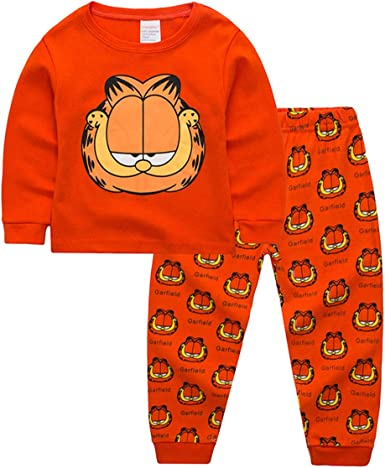 Amazon Com Zooyi Garfield Pajamas 100 Cotton Sleepwear Little Boys Tight Fit Pajama 2 Piece Sleepwear Set For Boys Girls Clothing