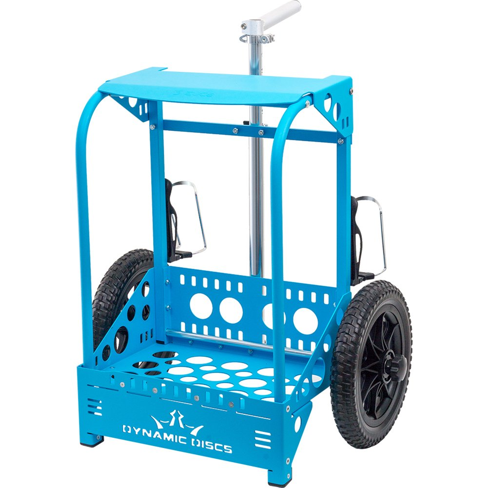 Dynamic Discs Backpack Cart LG by ZÜCA - Offers 50% Greater Capacity Than The Original Backpack Cart - Blue