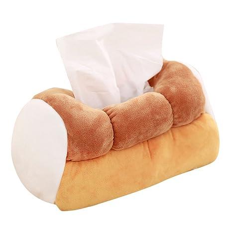 Amazon.com: Levenkeness – Caja de pañuelos de felpa suave ...