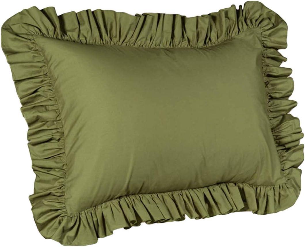 ShopBedding Ruffle Pillow case - Standard Pillow sham (Sage), Ruffle Pillow Cover.