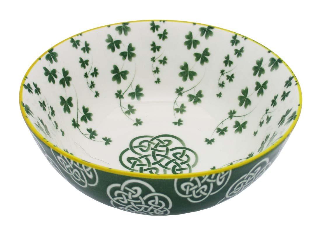 Irish Celtic Bowl With Trellis Shamrock Design 14cm Royal Tara