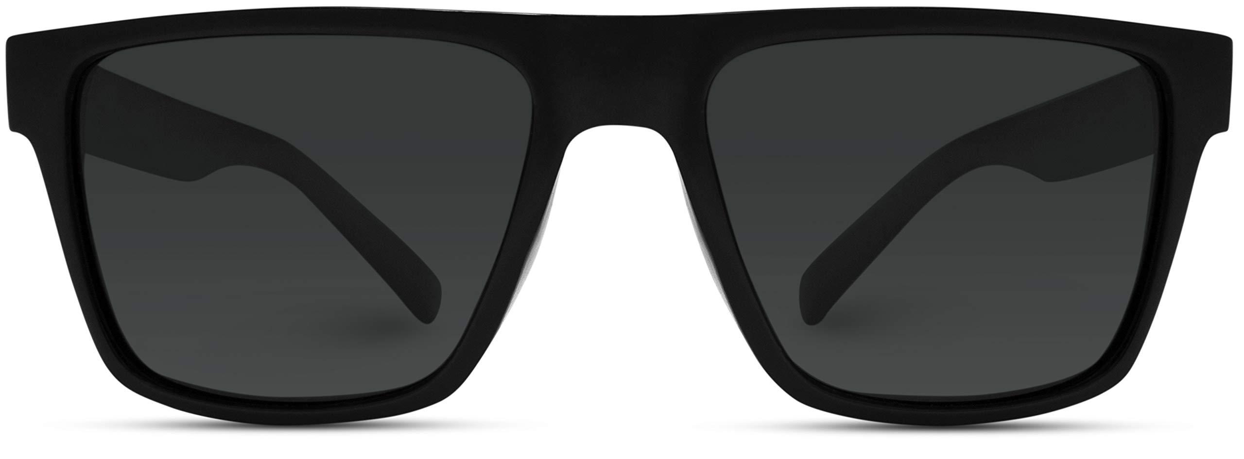 WearMe Pro - Polarized Flat Top Square Men Sunglasses by WearMe Pro