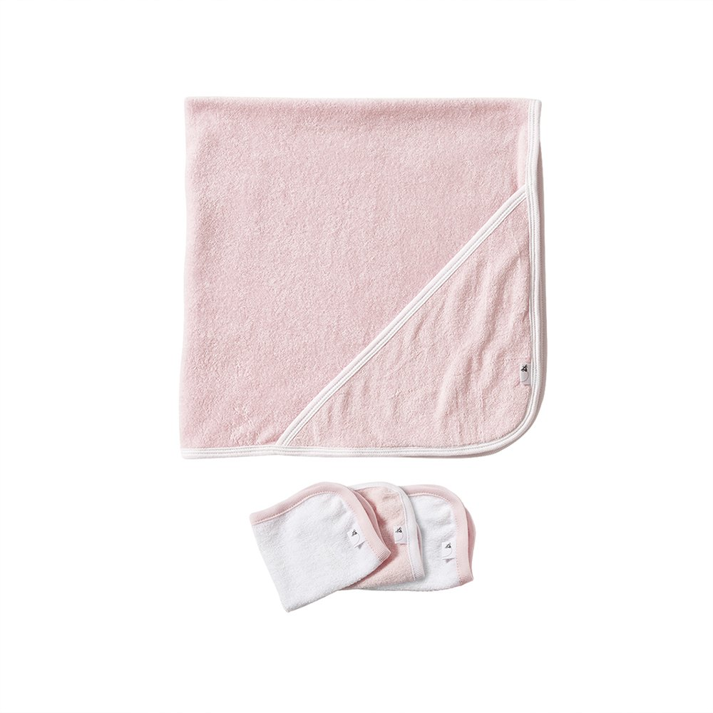 Burt's Bees Baby Organic Hooded Towel with 3 Washcloths