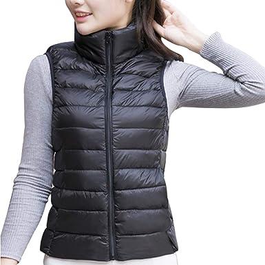 86656abdb577 uirend Clothing Women Coats Jackets Gilets - Down Vest Lightweight ...