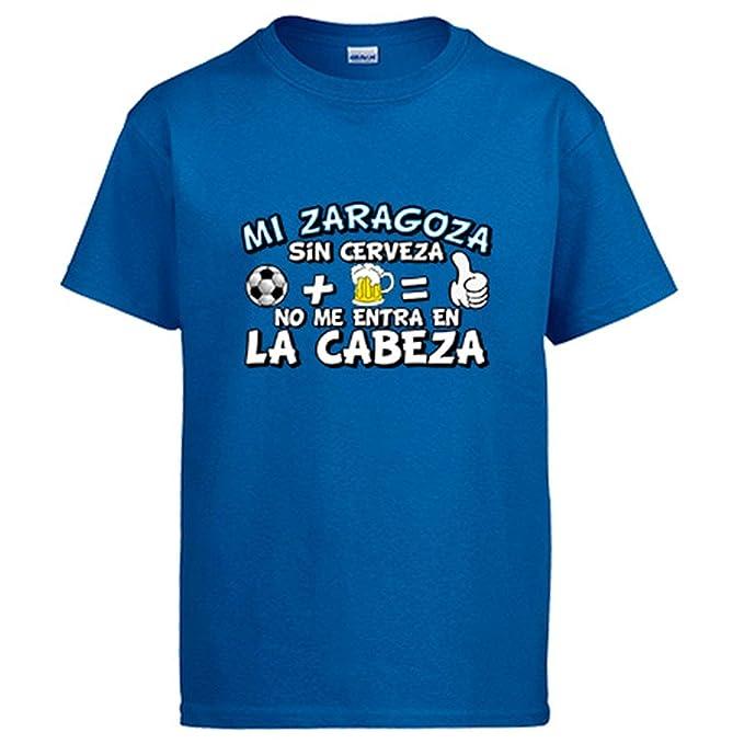 Camiseta Mi Zaragoza sin Cerveza no me entra en la Cabeza ...