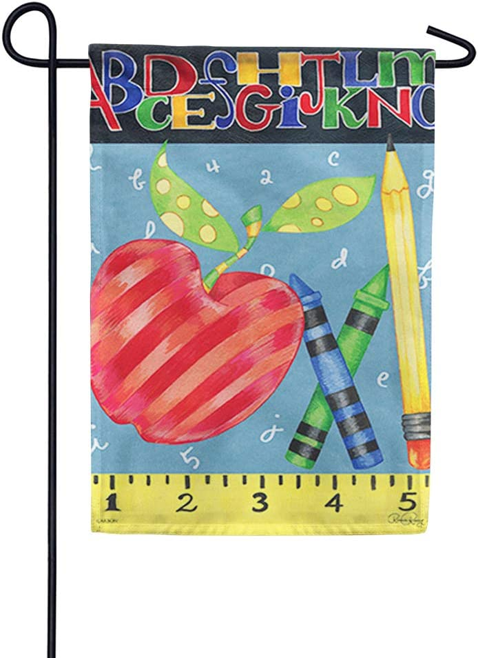 "Carson Flag Trends Back to School Garden Flag - #1 Teacher Garden Flag - 12.5"" x 18"""