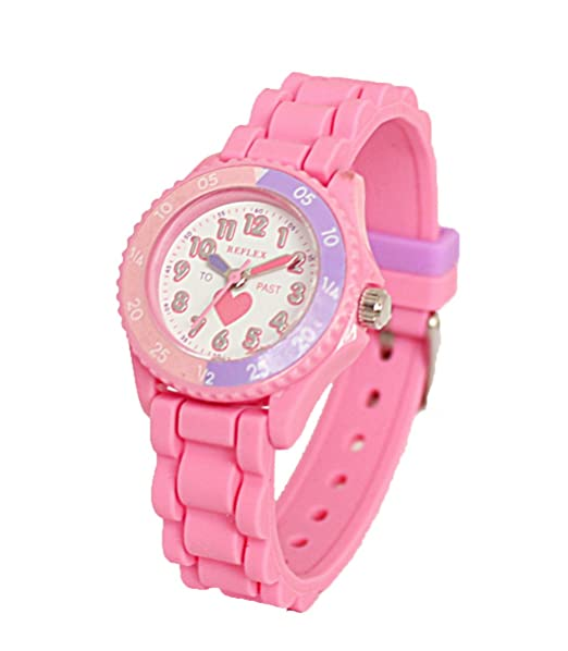 Reloj Reflex BM9 de niña, color rosa, para aprender la hora,