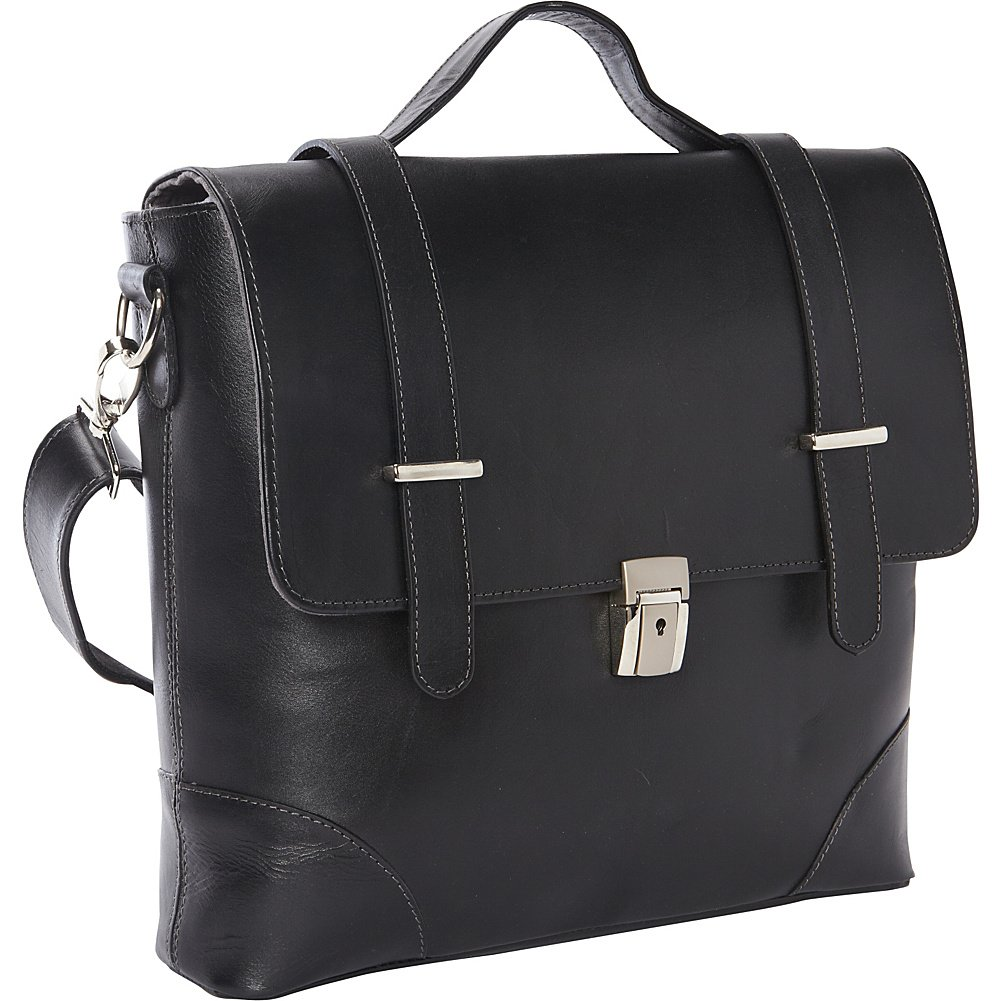 Piel Leather Deluxe Executive Portfolio Blk, Black