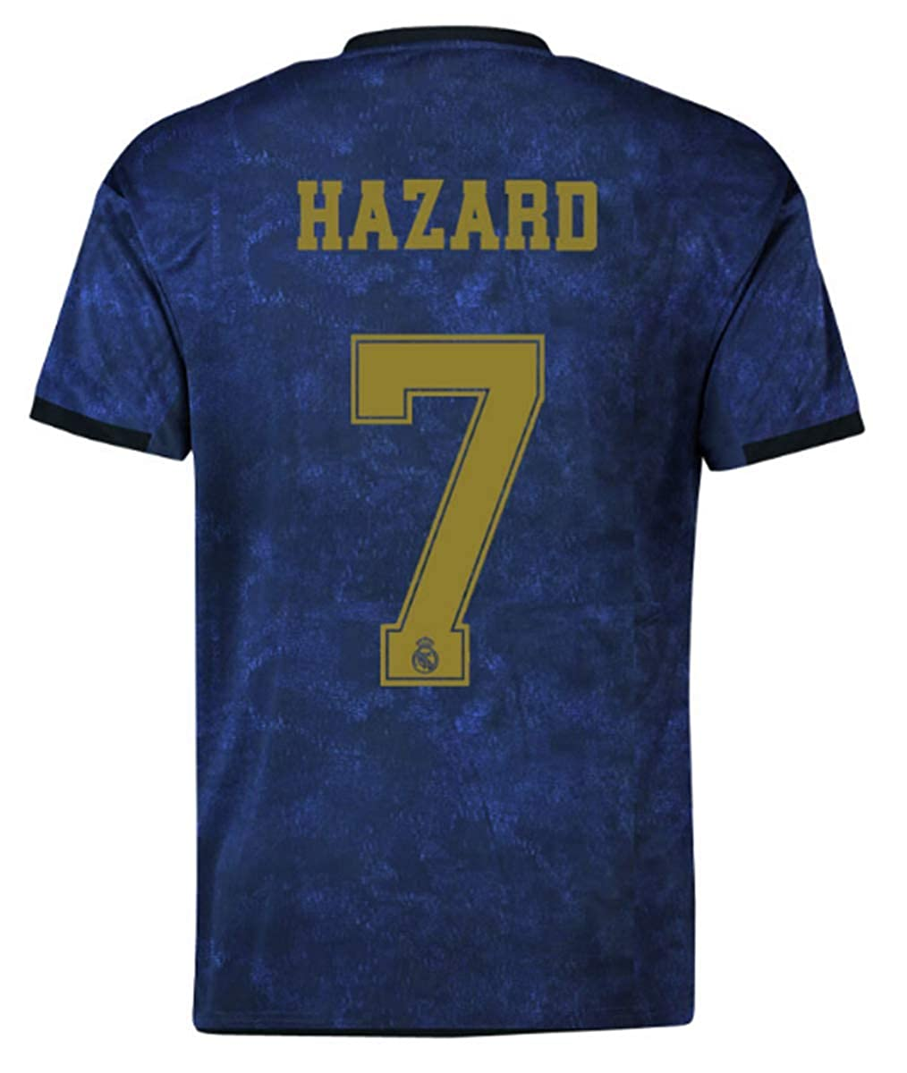 official photos 2438d ea1a4 Real Madrid Hazard # 7 Soccer Jersey 2019-2020 Away Mens Jersey Blue