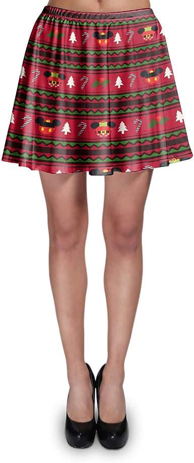 Falda con diseño de Mickey y Minnie Inspirado en Disney - Rojo - X ...